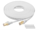 Cat 7 Ethernet Cable 50 ft LAN Cable Internet Network Cord for PS4, Xbox, Router, Modem, Gaming, Whi
